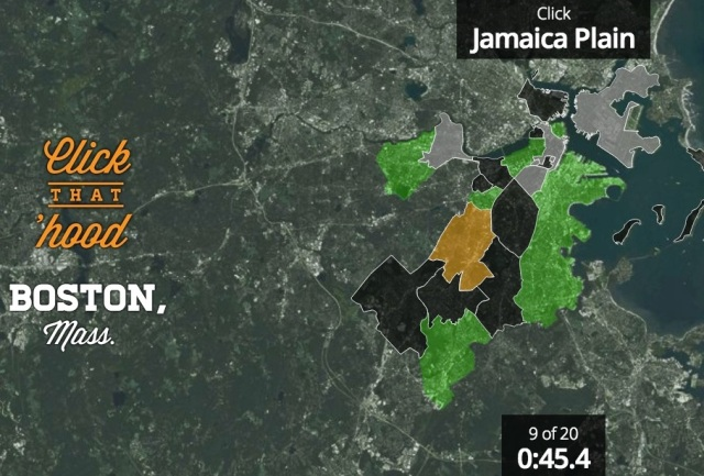 Click that 'Hood won't offer you a forum to debate if Jamaica Plain is the lesbian capital of the world, but it will help you locate it on a map!
