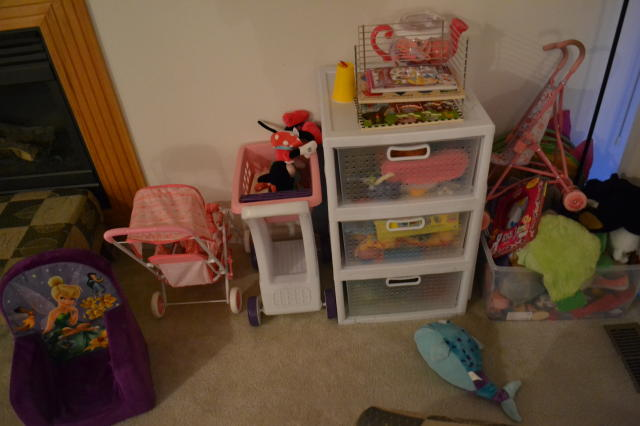 This is maybe only 1/3 of the toys my niece has and yes, there are TWO baby strollers. Whyyyyyyy?