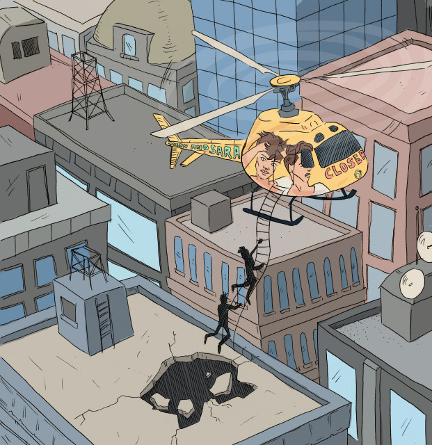Fanfic_Chapter 8_Tegan and Sara escape via helicopter