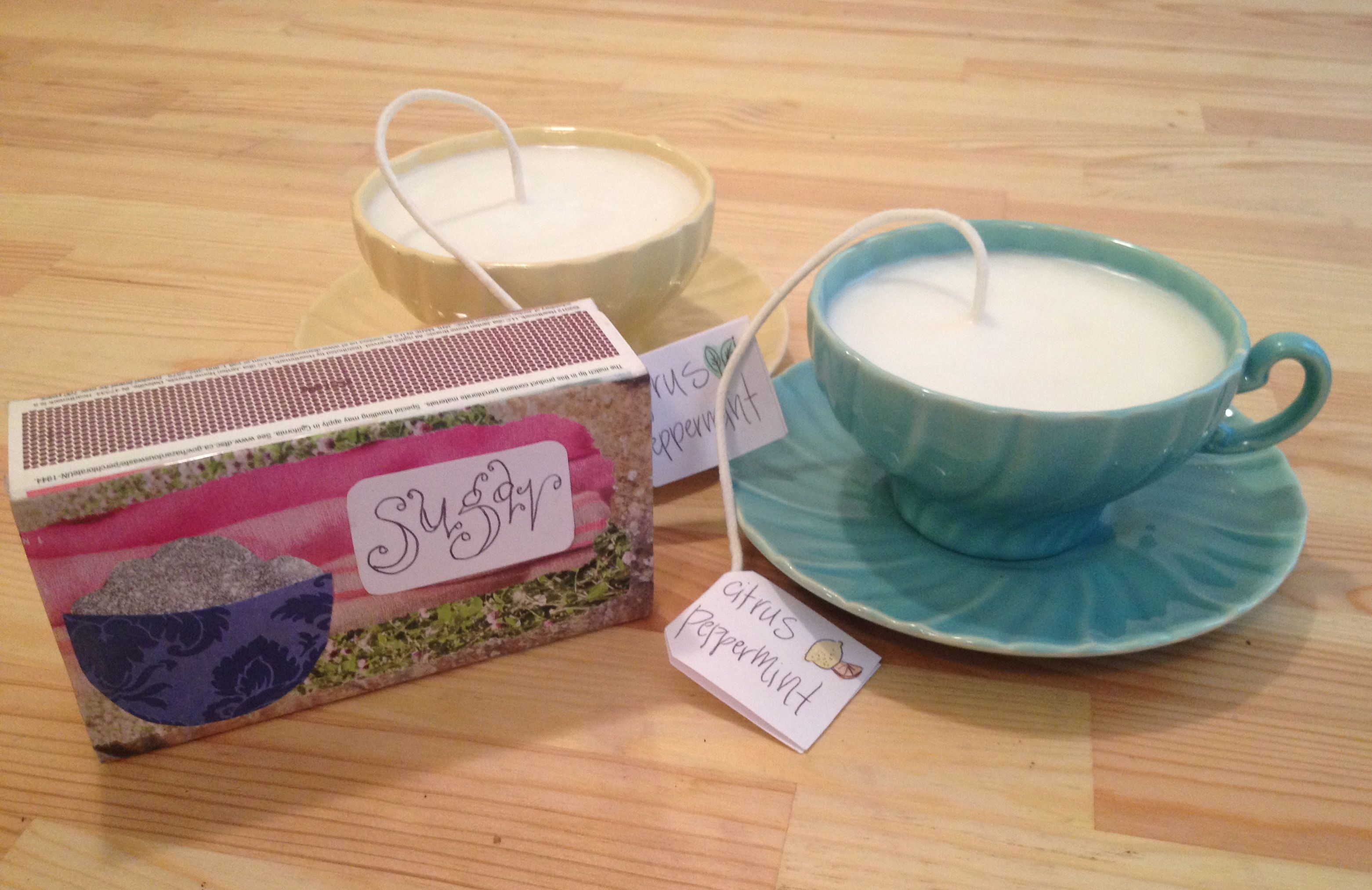 Homespun Love: Pour a Teacup Candle