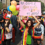The 5th Delhi Queer Pride March 2012- (Photo: IANS/Amlan)