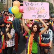 The 5th Delhi Queer Pride March 2012- (Photo: IANS/Amlan)