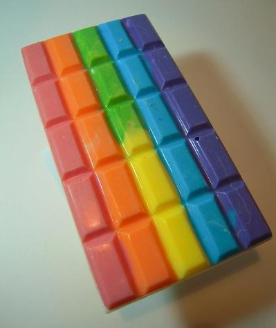 Rainbow chocolate gets me (via tumblr.com)