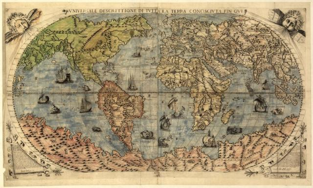 Cartographers in colonial Europe drew mythical sea creatures on their maps to indicate waters that hadn't been explored by Europeans yet. via davidkirkaldy.com