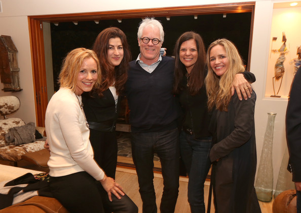 "(L-R) Actress/activist Maria Bello, filmmaker Jehane Noujaim, philanthopist Kevin Wall, Dr. Susan Smalley and social impact investor Clare Munn attend the screening for ""The Square"" at the home of Maria Bello on October 11, 2013 in Santa Monica, California. (October 10, 2013 - Source: Christopher Polk/Getty Images North America)"