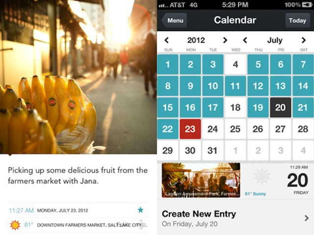 If I started using Day One, would my life suddenly be filled with sunlight and glamorous-looking bananas? Via AppSafari