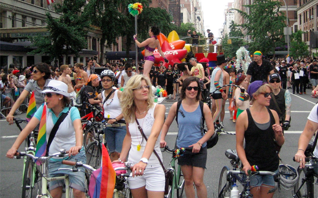 Dykes on BiCycles at NYC Pride '11 – this could be you! via PoleRiders