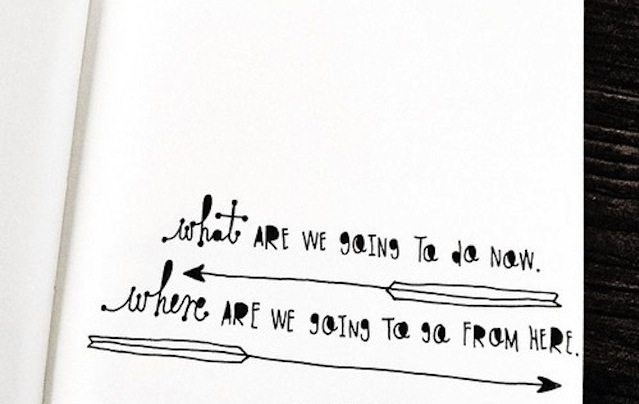 Whatever we are going to do, we are clearly going to do it with really nice handwriting.  (via The Notebook Doodles