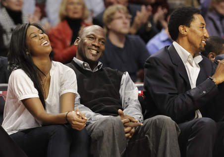 Jasmine and her father, Michael Jordan