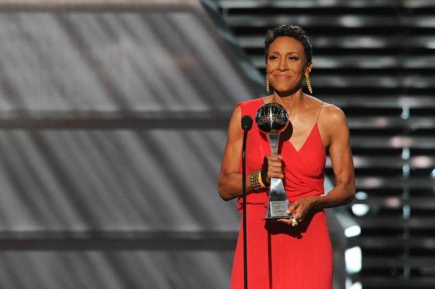 Robin Roberts won the Arthur Ashe Courage Award at the 2013 ESPYs via NY Daily News