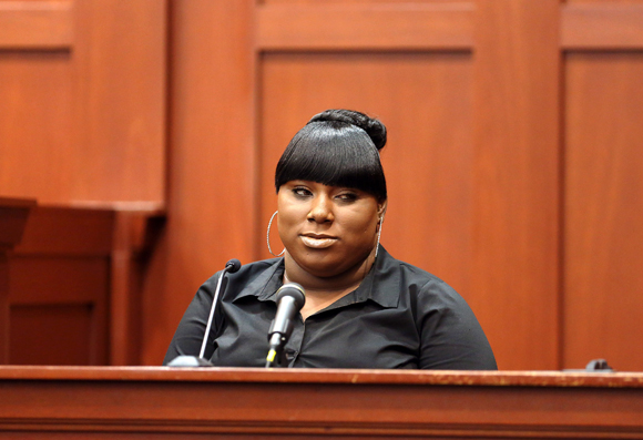 RACHEL JEANTEL ON THE WITNESS STAND (VIA THE NEW YORKER)