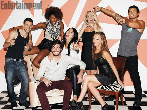 Ari Fitz and her castmates from The Real World