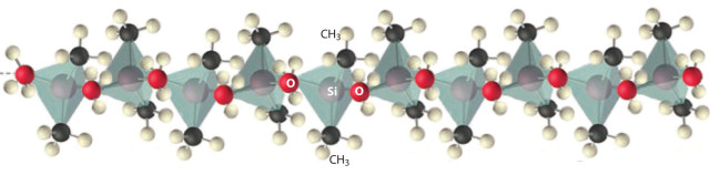 Silicone molecular chain