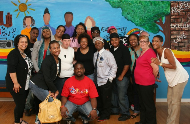 From Wanda Sykes' visit to the Ruth Ellis Center (photo credit the Ruth Ellis Center
