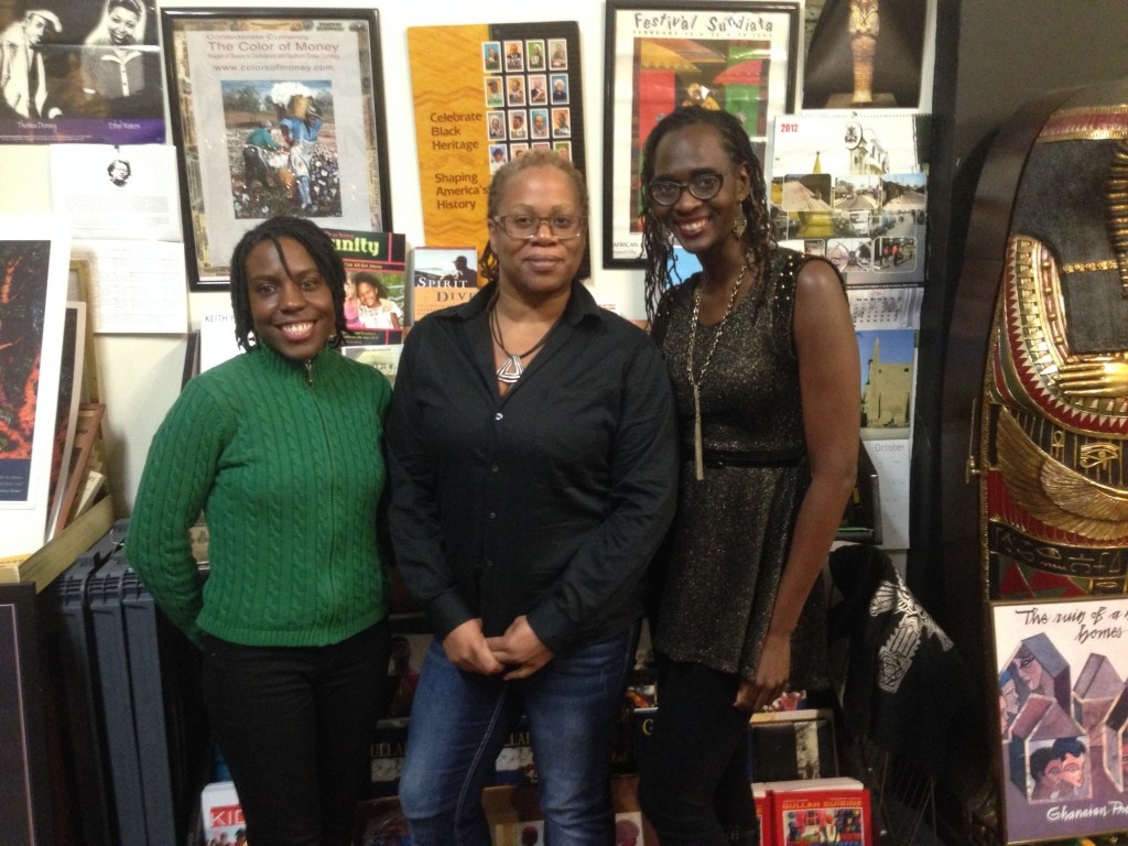 Sylva Jones, Angela Hughes, and Isis Asare of Sistah Sinema