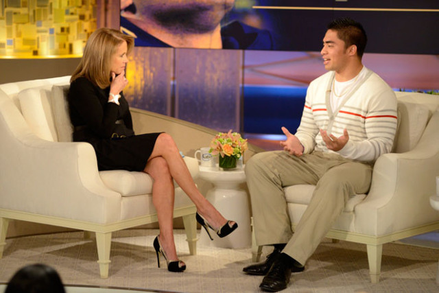 Katie Couric and Manti Te'o via Sports Illustrated