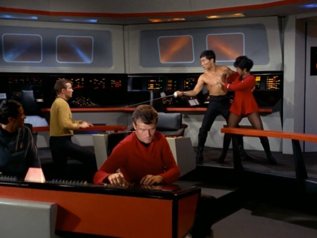 Uhura: I'm not into Three Musketeers LARPing, my dear.