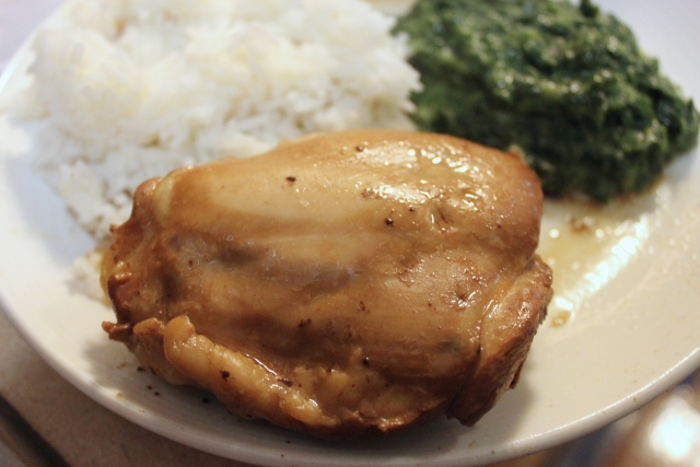 Adobo on a plate