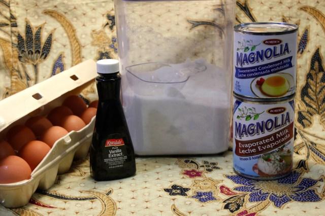 Leche flan ingredients