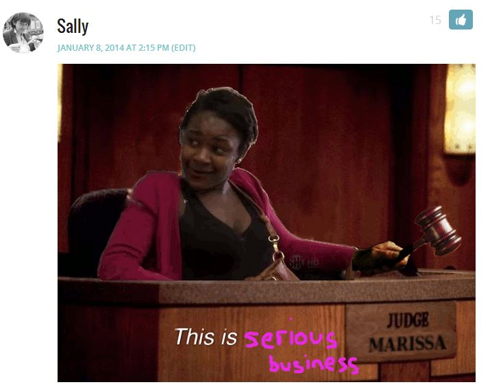 Sally COMMENT