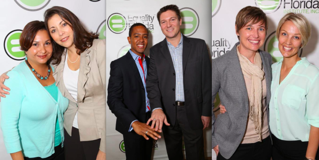 Couples at the Equality Florida press conference, January 21, 2014.