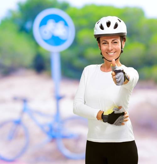 BIKE HELMETS MAKE ME REALLY HAPPY via Shutterstock