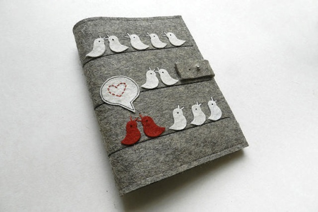 I am nauseated by the cuteness of this notebook. (Via eFelt)