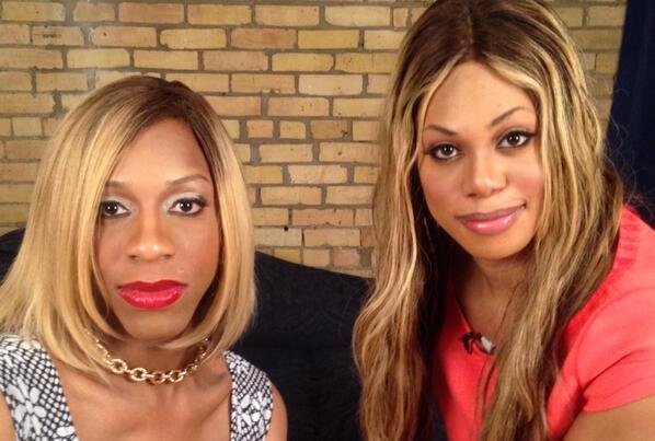 CeCe McDonald and Laverne Cox via GLAAD