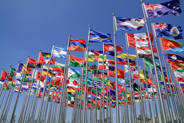 Commonwealth flags via Shutterstock