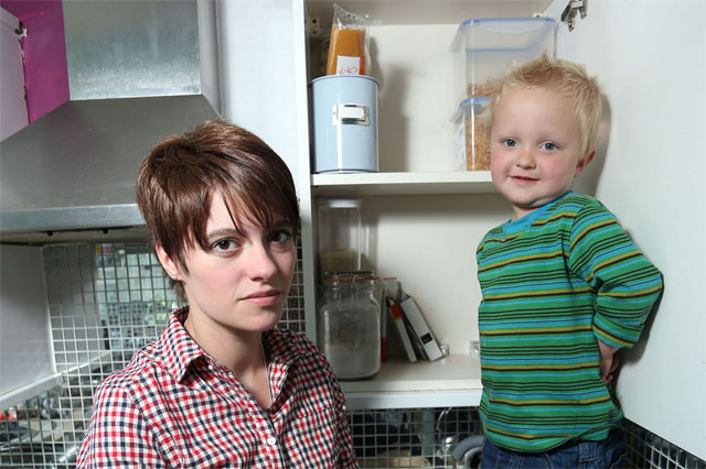 Jack Monroe with her Small Boy via The Mirror