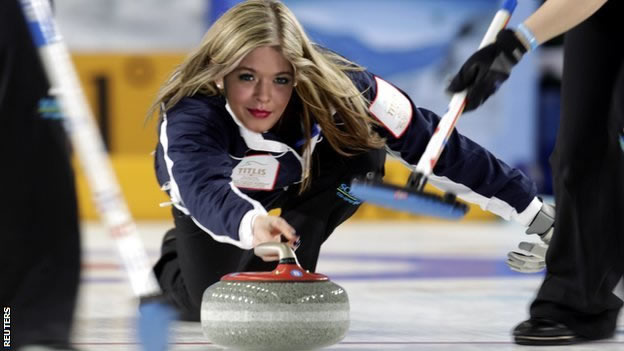 Mostly just practicing how to look straight while curling