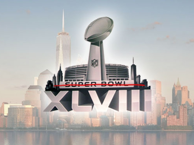 Crossed out Super Bowl logo.