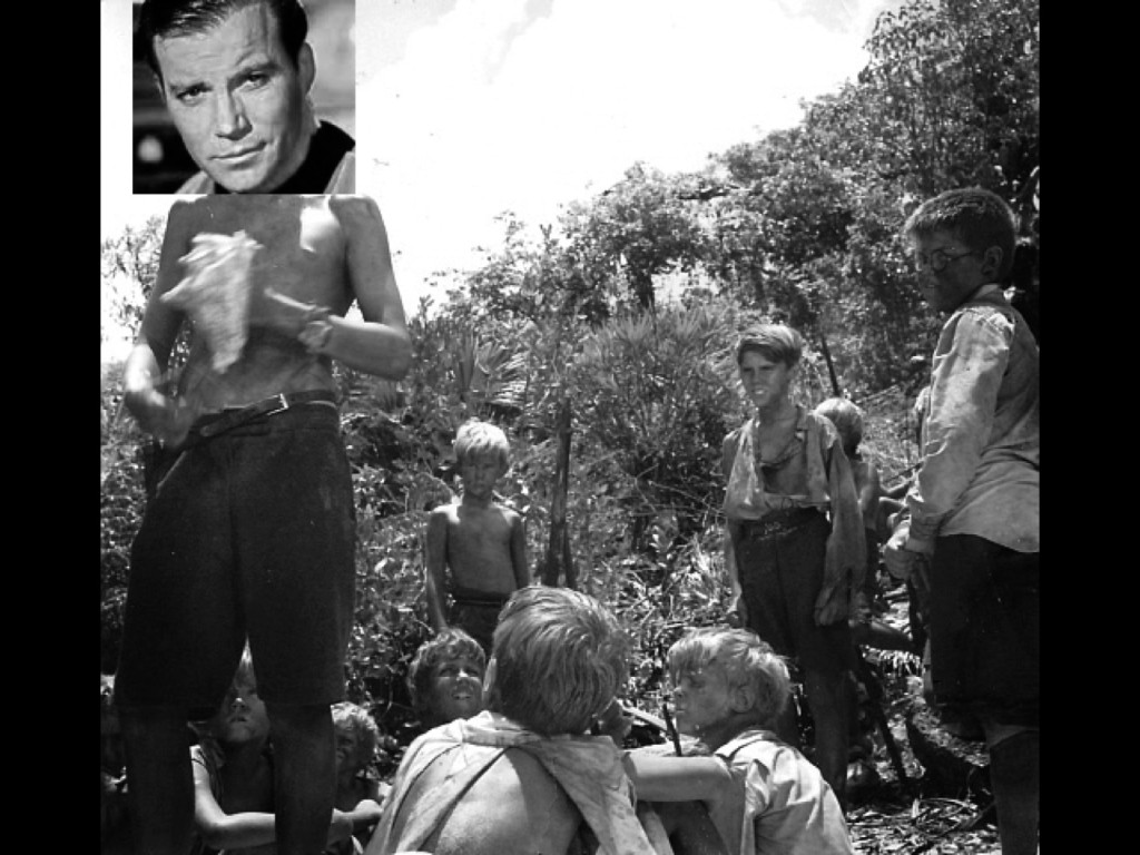 Kirk's got the conch, let him speak!