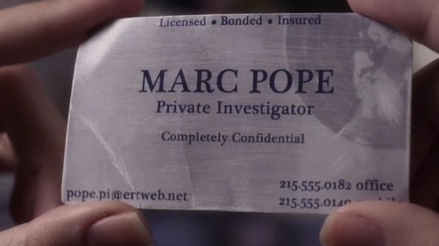 "You guys! ""Marc Pope"" is an anagram for ""I am Lord Alison DiLaurentis!"" Mystery solved."
