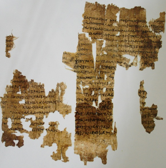 Papyrus manuscript containing fragments of three of Sapphos poems, found in mummy casing in the archives of the University of Cologne.