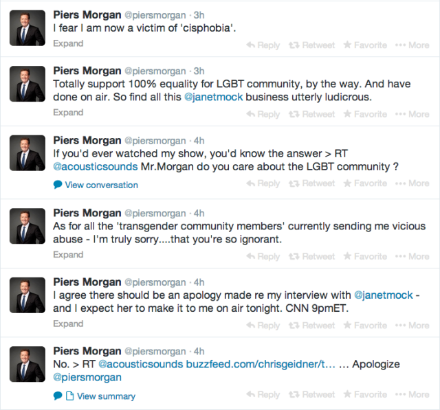 Morgan showing a fundamental misunderstanding of oppression dynamics.