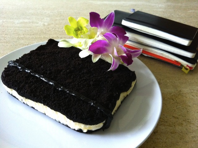 On the other hand, someone loves Moleskine enough to make this cake. (Via Moleskinerie)