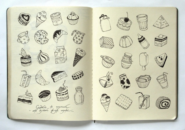 Moleskine at its most delicious. (Via Anna Rusakova)