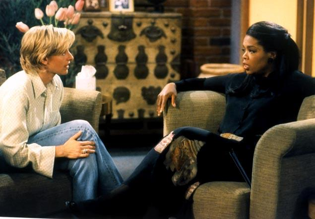 Ellen Morgan comes out to her therapist, played by Oprah Winfrey