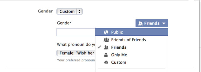 Options for non gender binary pronounds