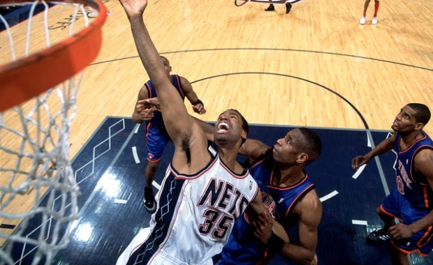 Collins during his previous time with the Nets via Pings Hoops