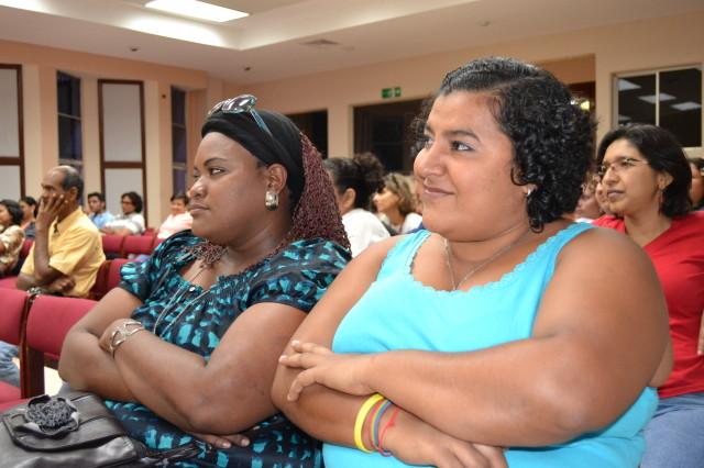 Jennipher Ellis and Tania Irías, photo courtesy of Programa Feminista La Corriente