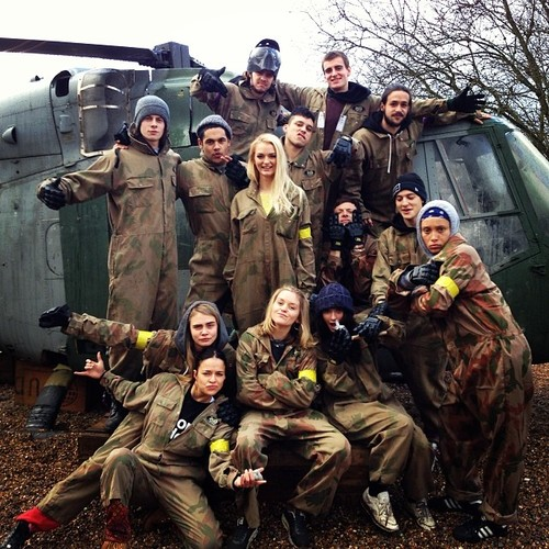 Cara and Michelle get in touch with nature at a paintballing excursion three weeks ago