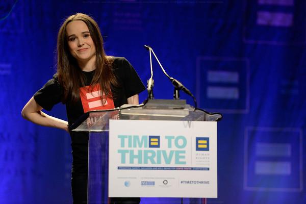 Ellen Page on February 14, 2014