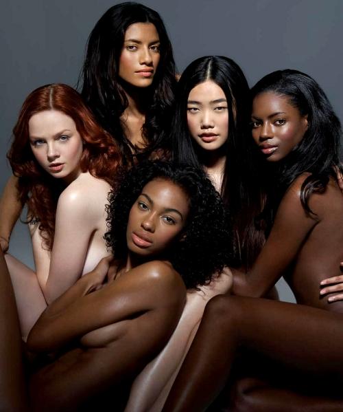 via models of color
