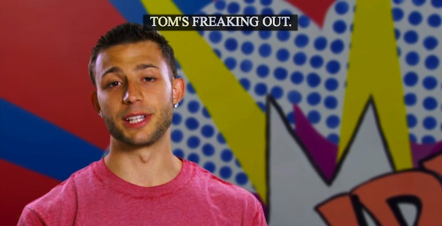 tom is freaking out