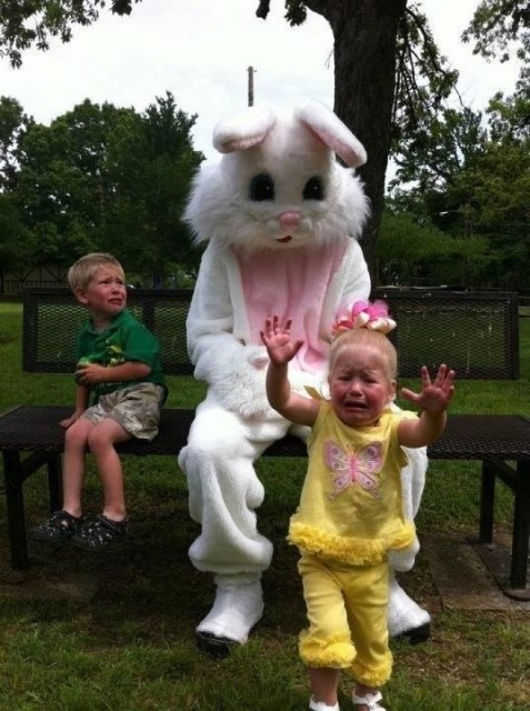 via Huffington Post. Rabbits are like the new clowns. They're after yer soul.