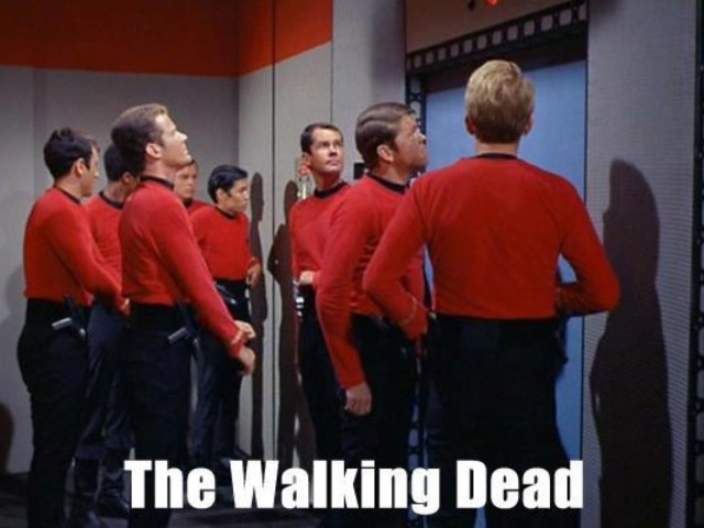 Credit: An Introspective World. Just in case you haven't caught onto this trend with the redshirts.