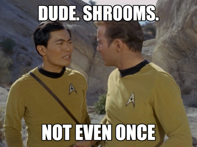 Sulu is SO over this planet.