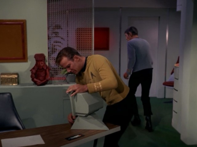 Kirk: SIRI! Help us find the explosives! Hurry! Siri: Sorry, I didn't quite catch that.